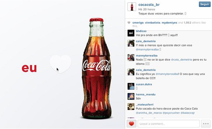 Coca-Cola surpreende ao bolar uma propaganda específica para Instagram