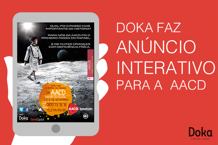 Doka faz anúncios interativos para revista digital (tablets) para ONGs 1 - Doka Comunicação