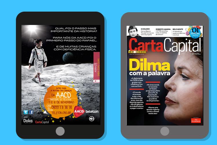 Doka faz anúncios interativos para revista digital (tablets) para ONGs 2 - Doka Comunicação