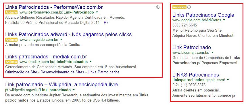 O que são links patrocinados 2 - Doka Comunicação