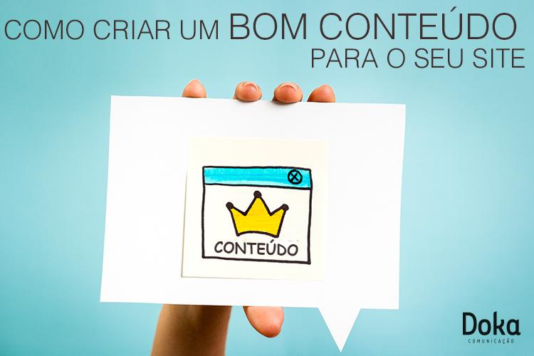 Como criar um bom conteúdo para o seu site 1 - Doka Comunicação