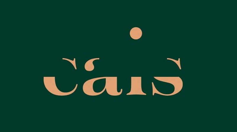 Marca e identidade visual do restaurante Cais.