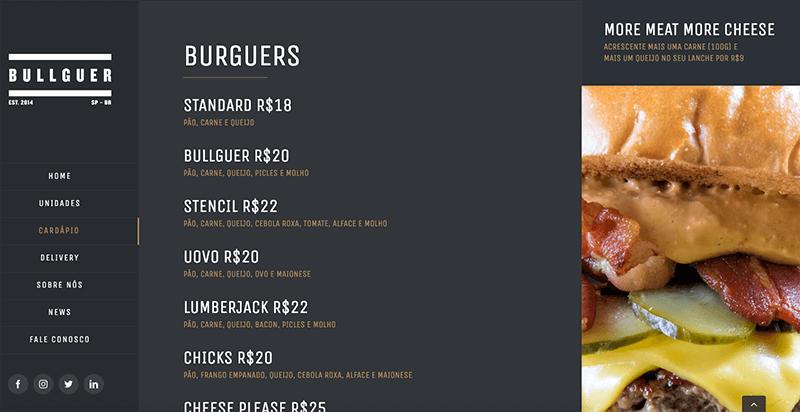 Site para restaurante - cardápio digital - Marketing para restaurante