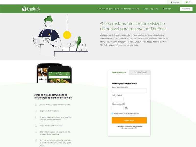 Plataforma de reservas TheFork - Marketing para restaurante