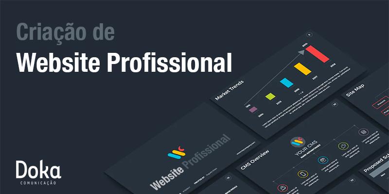Criação de site profissional é com a Doka Comunicação