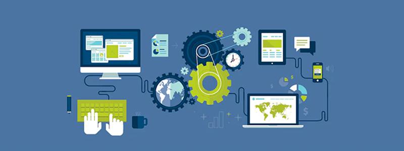 Criação de Site: Desenho de engrenagem da criação de site profissional