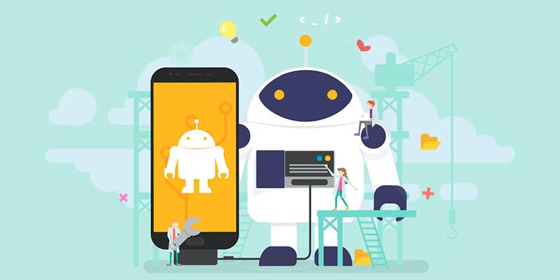 Ilustração de um robô e um celular fazendo alusão ao Robot TXT