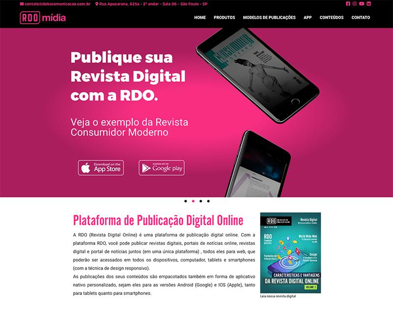 Identidade visual do site da RDO - Revista Digital Online