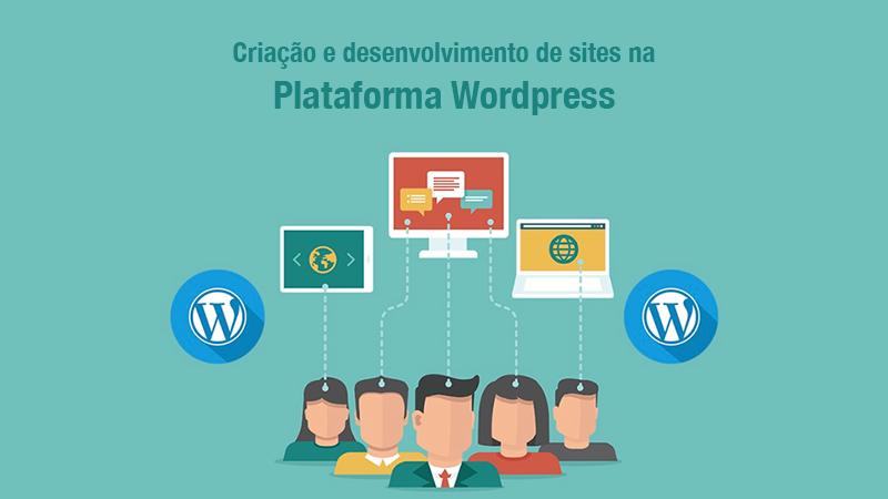 Ilustração de pessoas pensando em usar a plataforma de criação de site WordPress